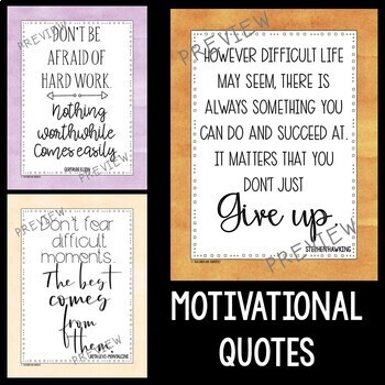 STEM and Science Quotes Posters featuring Pastel Watercolor Backgrounds