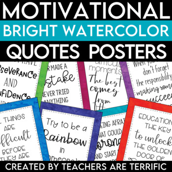STEM and Science Quotes Posters featuring Watercolor Backgrounds