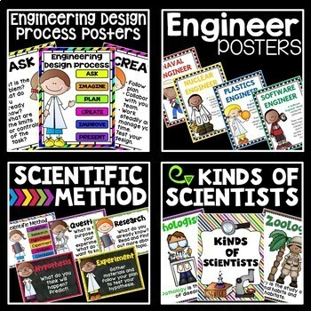 STEM and Science Ultimate Poster Bundle in Big and Bold Colors