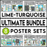 STEM and Science Ultimate Poster Bundle in Lime and Turquoise