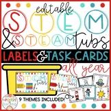 STEM bins - Labels & Task Cards