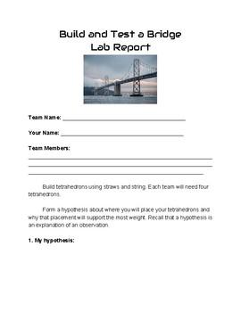 STEM build and test a Bridge