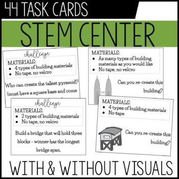 STEM center / Maker space Task Cards