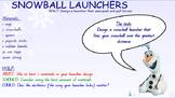 STEM challenge - snowball catapults