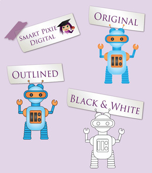 STEM clipart- Coding, Robotics and Virtual Reality