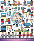 STEM clipart- Coding, Robotics and Virtual Reality