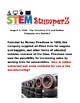STEM daily discussion starters, journal prompts, and fillers - August