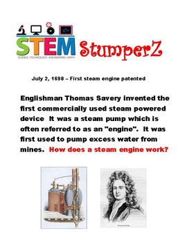 STEM daily discussion starters, journal prompts, and fillers - July
