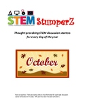 STEM daily discussion starters, journal prompts, and fillers - October