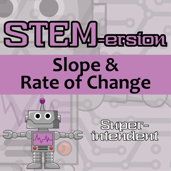 STEMersion -- Slope & Rate of Change -- Superintendent