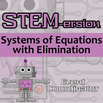 STEMersion -- Systems of Equations (with Elimination) -- Event Coordinator