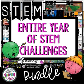 STEM for the Entire Year Bundle including Christmas STEM Challenges