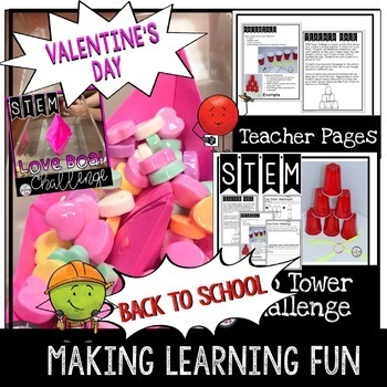 STEM for the Entire Year Bundle including Valentine's Day STEM Activities