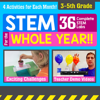 STEM for the Whole Year! 36 Activities {3-5th Grade}