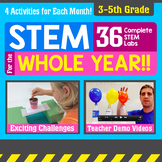 STEM for the Whole Year! 36 Activities {3-5th Grade} Bundle