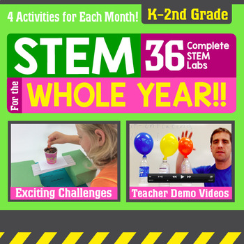 STEM for the Whole Year! 36 Activities {K - 2nd Grade}