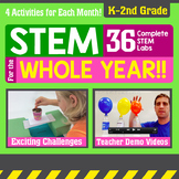 STEM for the Whole Year! 36 Activities {K - 2nd Grade} Bundle