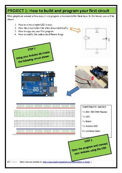 STEM Arduino Card Blink and lights STUDENT (Introduction)