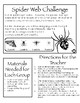 Animal Engineers: Meet the Spider STEM STREAM STEAM Challenge