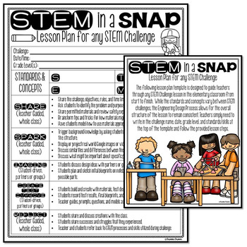 STEM in a Snap! {FREE Lesson Plan for Any STEM or STEAM Challenge}