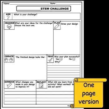 STEM journal for any challenge (EDITABLE)