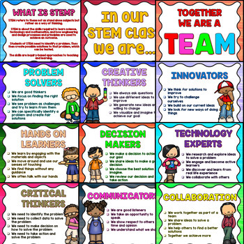 STEM or STEAM Posters and Banners (Science Classroom Decoration)