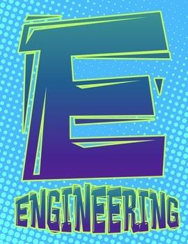 STEM or STEAM Superhero Comic Posters