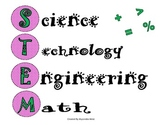 STEM pink and green Posters