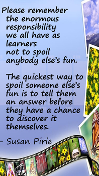 STEM poster to remind students to let others make discoveries