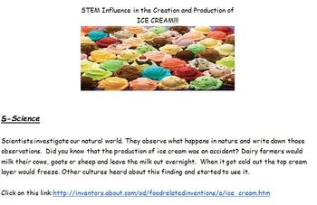 STEM's Influence in the Creation of Ice Cream