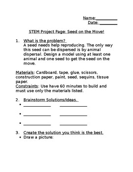 STEM template: Seeds on the Move