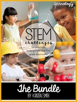 STEM throughout the year- The Bundle (preschool, kindergarten, and first grade)