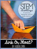 STEM throughout the year- Unit 4 Sink and Float