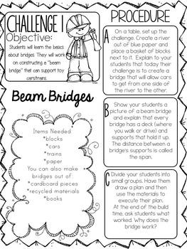 STEM throughout the year- Unit 5 Bridges