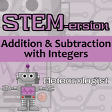 STEMersion -- Integer Addition & Subtraction - Meteorologist