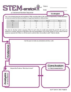 STEMersion -- Advanced Number Sequences -- Ecologist