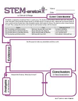 STEMersion -- Domain and Range -- Event Coordinator