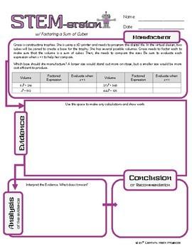 STEMersion -- Factoring a Sum of Cubes -- Manufacturer