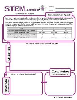 STEMersion -- Fraction of a Number -- Transportation Agent