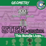 STEMersion -- GEOMETRY CURRICULUM BUNDLE -- 38+ Math Activities!