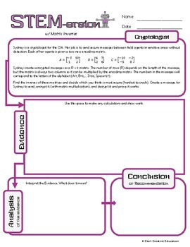 STEMersion -- Matrix Inverse -- Cryptologist
