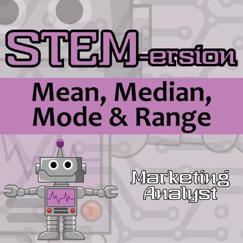 STEMersion -- Mean, Median, Mode, and Range -- Marketing Analyst
