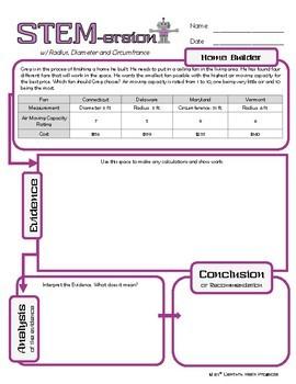 STEMersion -- Radius, Diameter and Circumference -- Home Builder