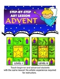 STEP-BY-STEP ART LESSON - ADVENT