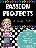 STEP BY STEP Passion Project for Elem (Genius Hour, Project Based Learning)
