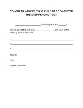 STEP Progress Letter