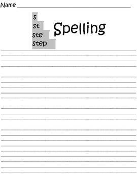 STEP Spelling Worksheet