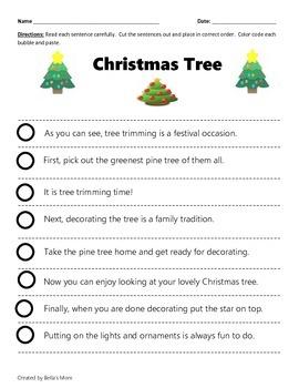 PARAGRAPH CUT & PASTE: CHRISTMAS TREE