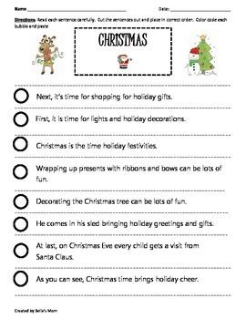 PARAGRAPH CUT & PASTE: CHRISTMAS