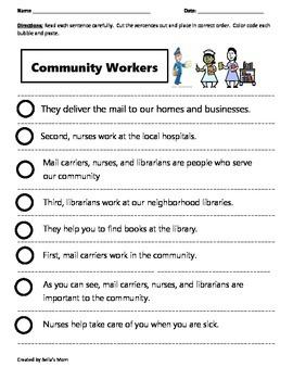 Paragraph Cut & Paste: COMMUNITY WORKERS 2